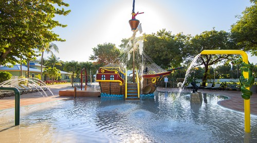 Pirate Ship Pool Water Features