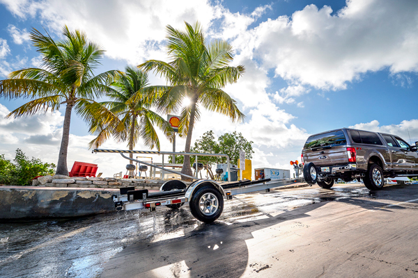 Boat ramp and trailer parking available at our Florida Key marina