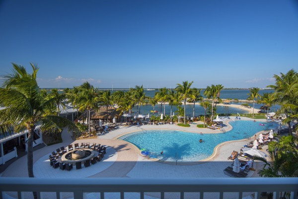 Hawks Cay Guestroom - One Bedroom Presidential Suite - Balcony View