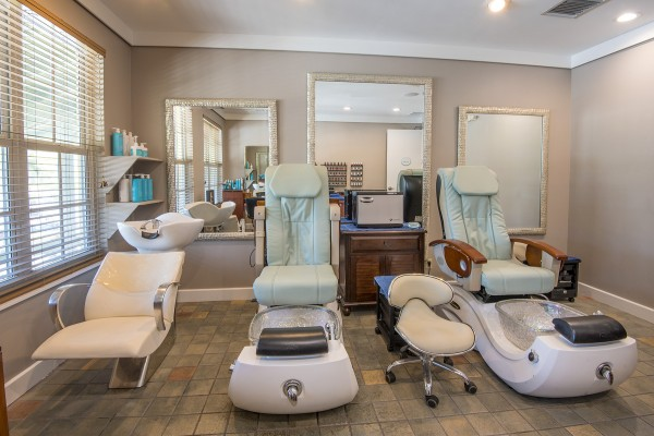Pedicure chairs in spa at Hawks Cay Resort