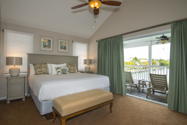 Hawks Cay Villas Harbor Village Townhome Bedroom in the Florida Keys