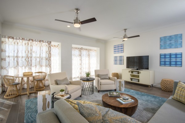 Coastal Suite Living Area at Hawks Cay in the Florida Keys