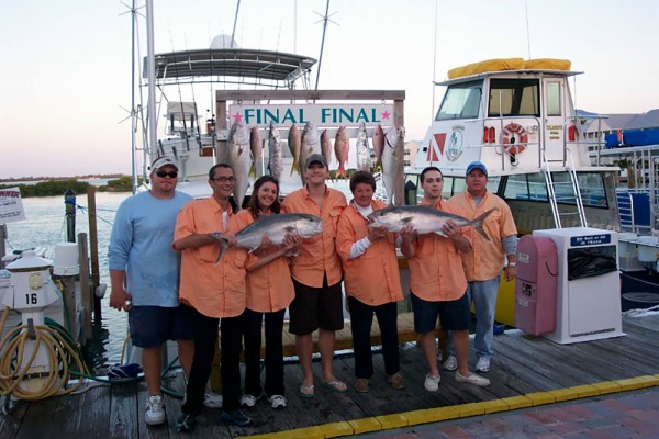 Trophy fish caught on Final Final fishing charter at Hawks Cay Resort in the Florida Keys