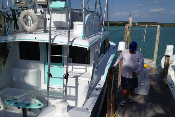 Onboard the Final Final fishing charter at Hawks Cay