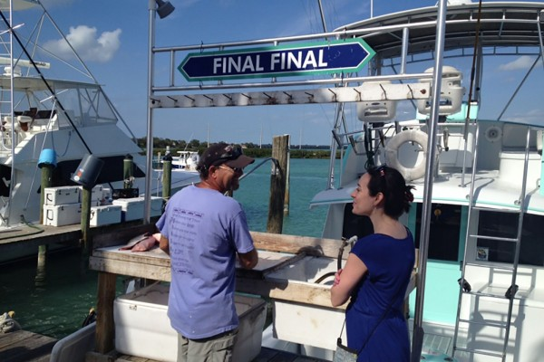 The Final Final fishing charter dock in the Florida Keys