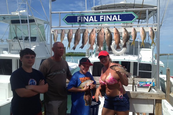 Snapper caught on Final Final fishing charter at Hawks Cay Resort in the Florida Keys
