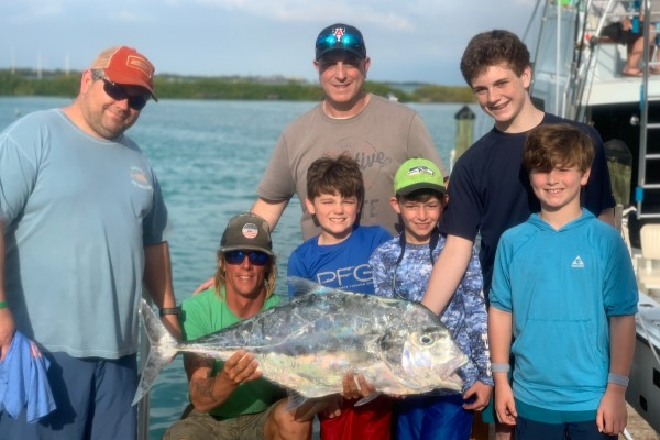 Permit caught on family friendly Final Final fishing charter at Hawks Cay Resort in the Florida Keys