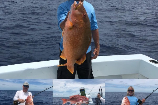Snapper caught on Gotcha fishing charter at Hawks Cay Resort in the Florida Keys