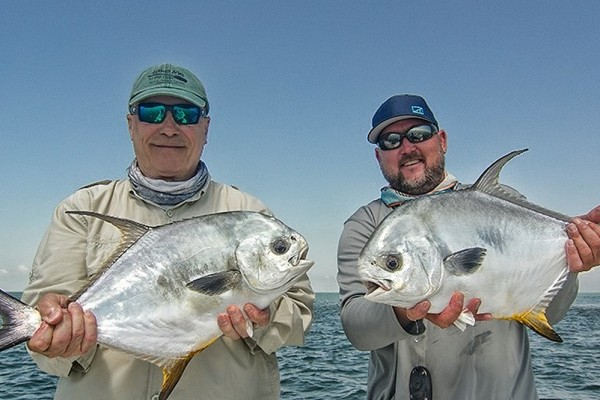Permit caught on Right On fishing charter at Hawks Cay Resort in the Florida Keys