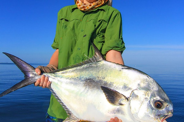 Permit caught on Into the Blue fishing charter at Hawks Cay Resort in the Florida Keys