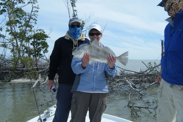 Trophy fish caught on I'm Hooked fishing charter at Hawks Cay Resort in the Florida Keys