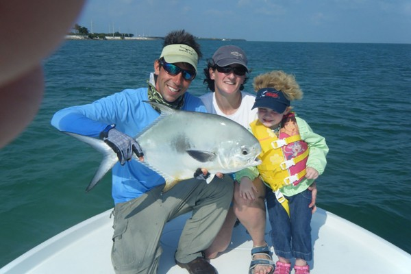Permit caught on I'm Hooked fishing charter at Hawks Cay Resort in the Florida Keys