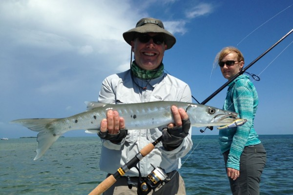 Barracuda caught on I'm Hooked fishing charter at Hawks Cay Resort in the Florida Keys