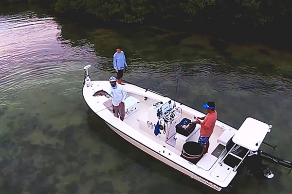 Fisherman on I'm Hooked fishing charter at Hawks Cay Resort in the Florida Keys