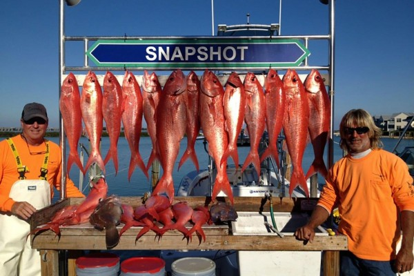 Red Snapper caught on Snapshot fishing charter at Hawks Cay Resort in the Florida Keys