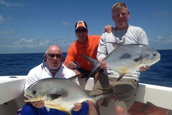 Permit caught on Snapshot fishing charter at Hawks Cay Resort in the Florida Keys