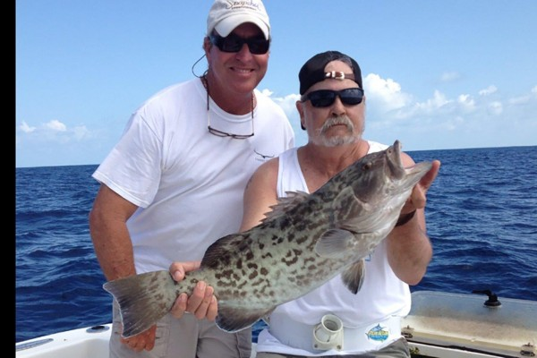 Grouper caught on Snapshot fishing charter at Hawks Cay Resort in the Florida Keys