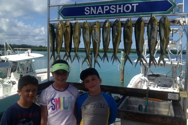 Trophy fish caught on Snapshot fishing charter at Hawks Cay Resort in the Florida Keys