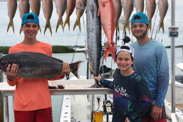 Family friendly fishing charter at Hawks Cay Resort in the Florida Keys