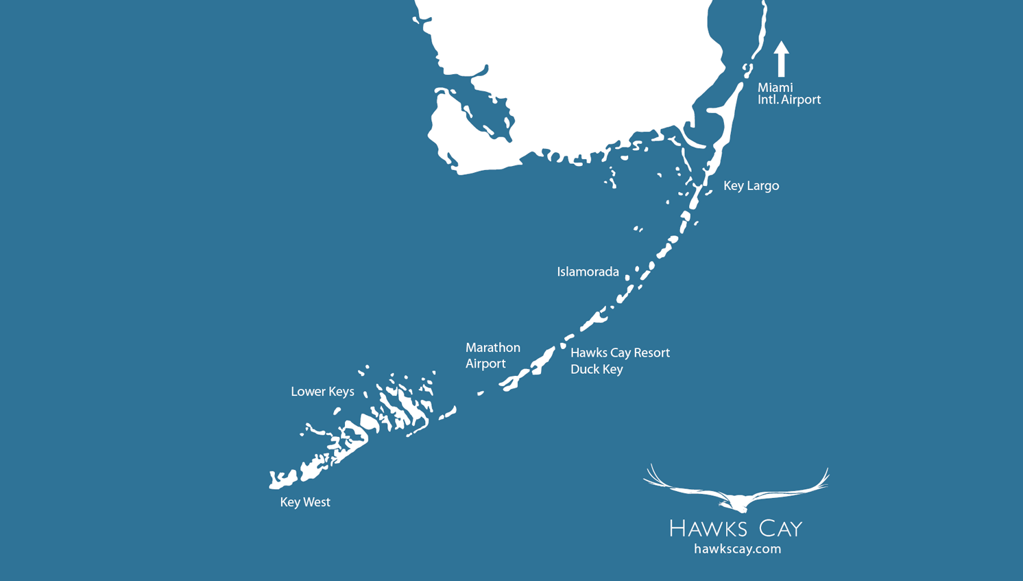 map of Hawks Cay location in Florida Keys